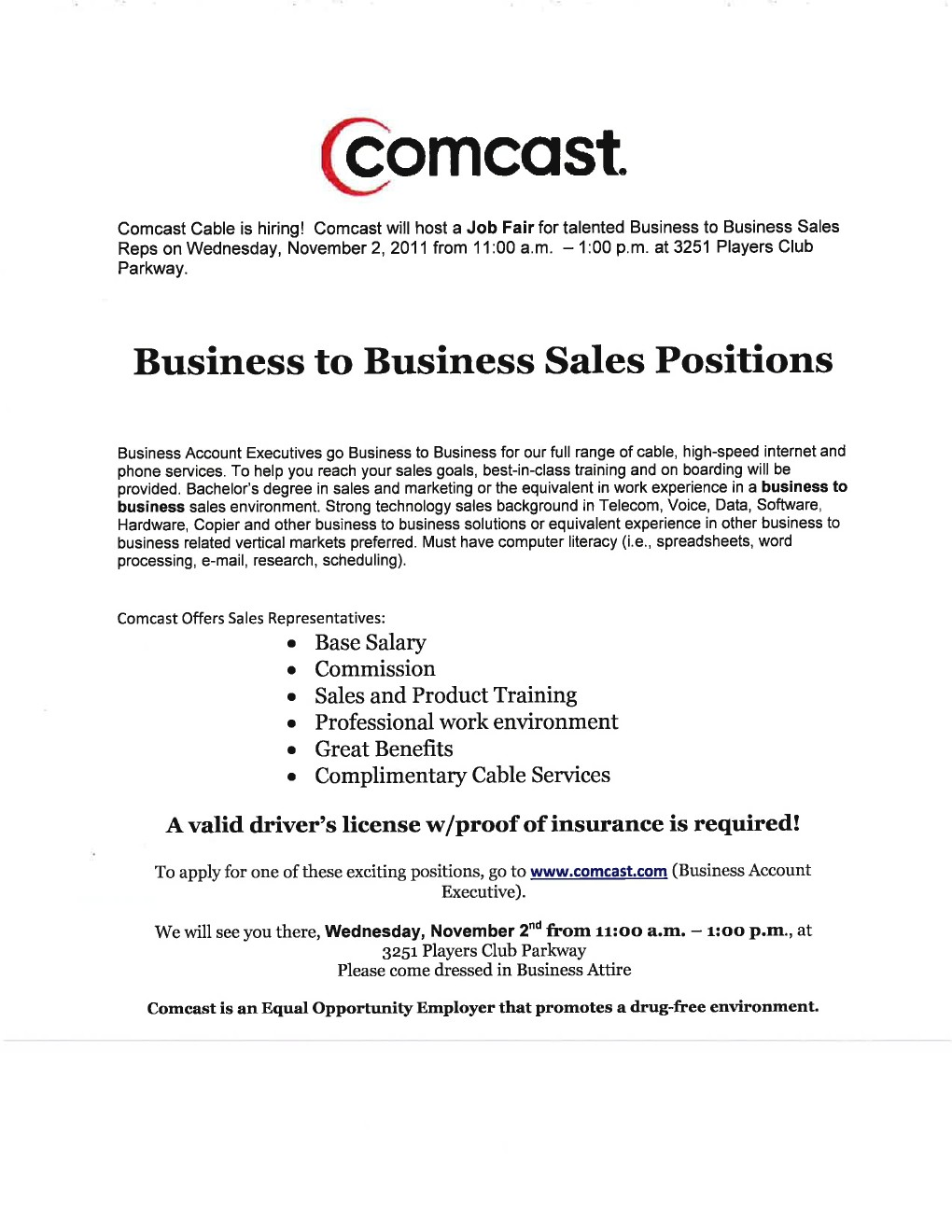 Comcast account executive resume – Tour Manager Resume