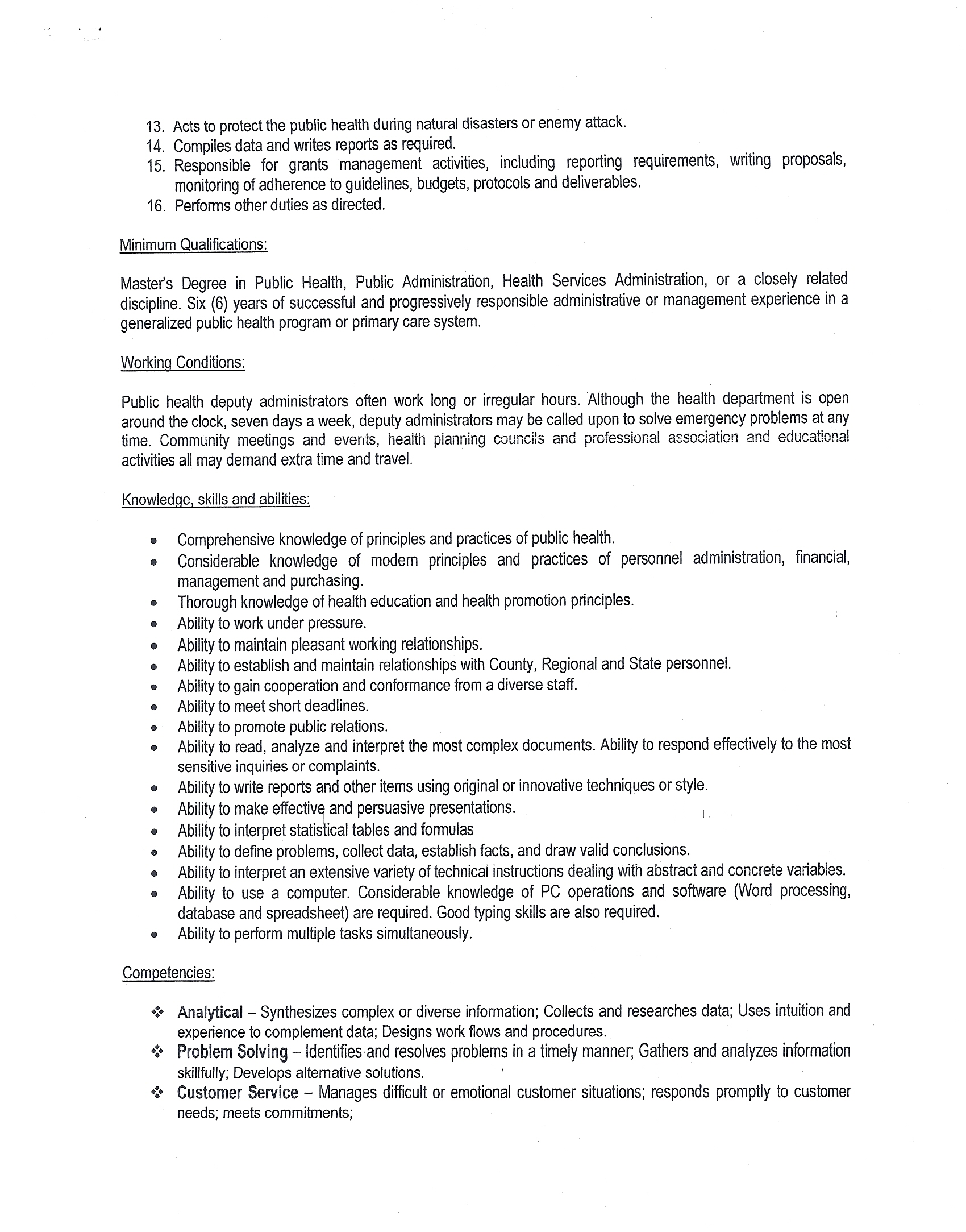 sample public health cover letter