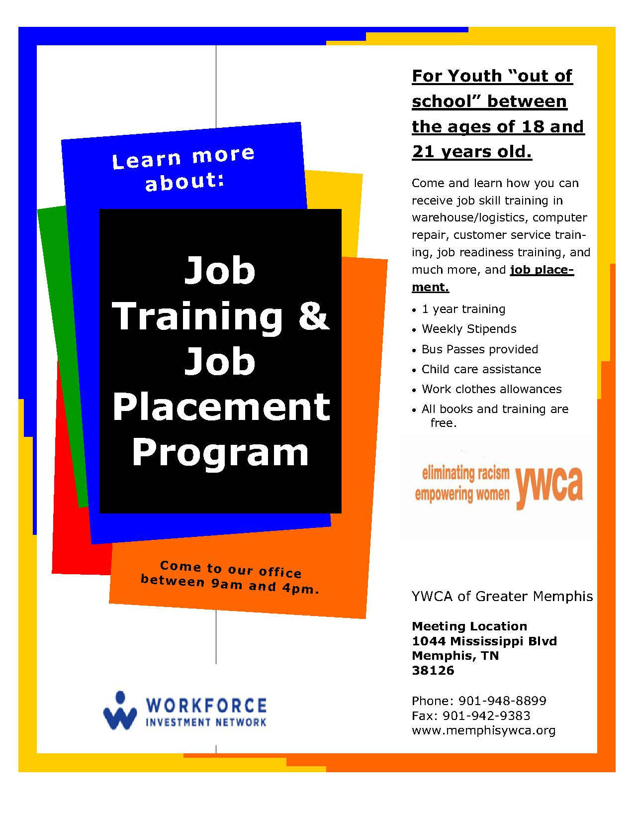 job training and placement for youth 18