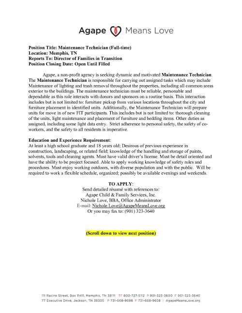 Agape Admin Communique-Job Posting Annoucements-042613_2