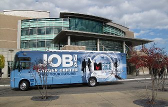 JobLINC bus in front of Central Library