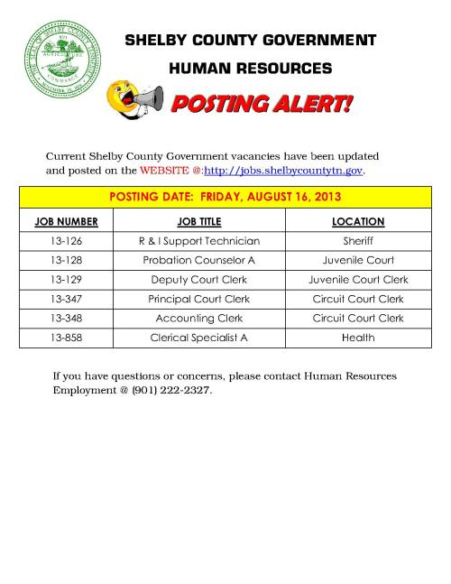 Shelby County Government POSTING ALERT 08_1
