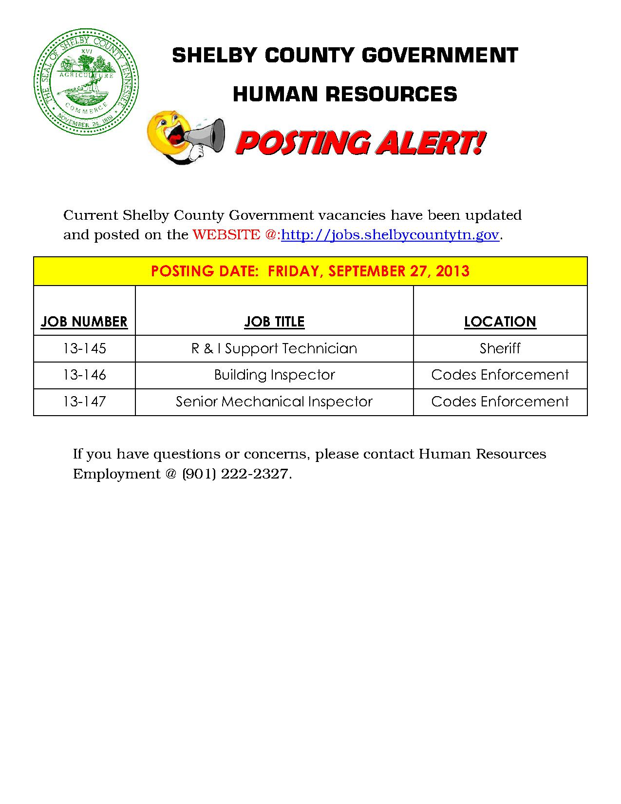 September 2013 Job Career News From The Memphis Public Libraries
