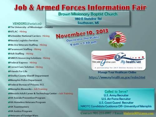 2013 Job & Armed Forces Info Flyer Brown Baptist