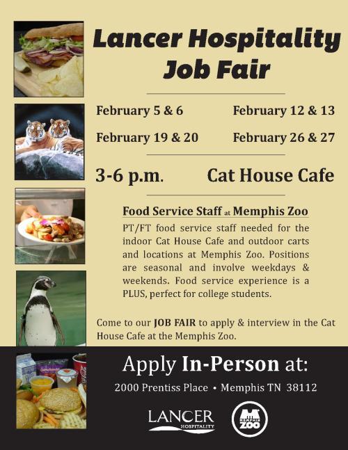 MemphisZoo - LancerHospitality-Food Service-JobFairFlyer Memphis 2_14_1