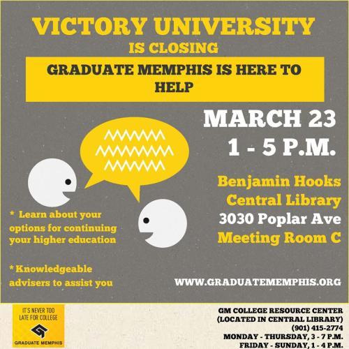 Graduate Memphis Victory 3-23