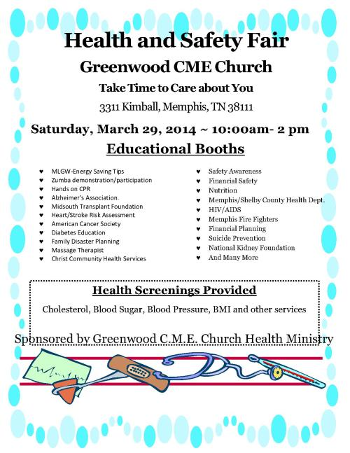 Greenwood CME Health and Safety Fair 3-29-14_1