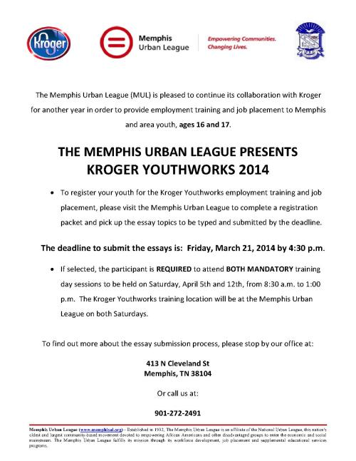 Kroger Youthworks Announcement 2014 _1
