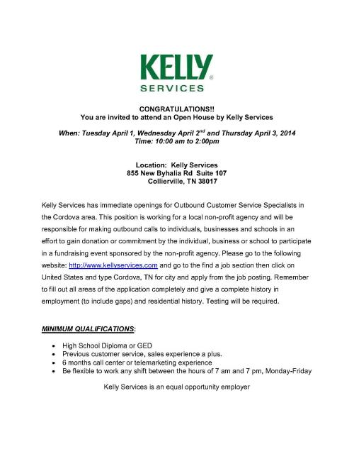 Outbound Customer Service Specialist - Kelly Services_1