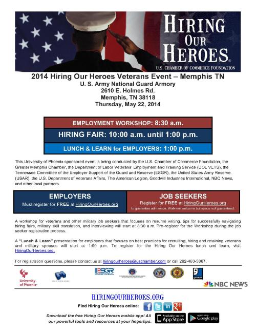 Hiring Our Heroes Memphis  flyer May 2014_0_1