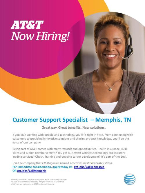AT&T Customer Support Specialist Flyer (Memphis, TN)_1