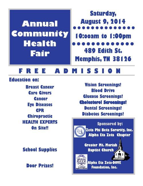 2014 Health Fair Flyer-Greater Mt Moriah_1