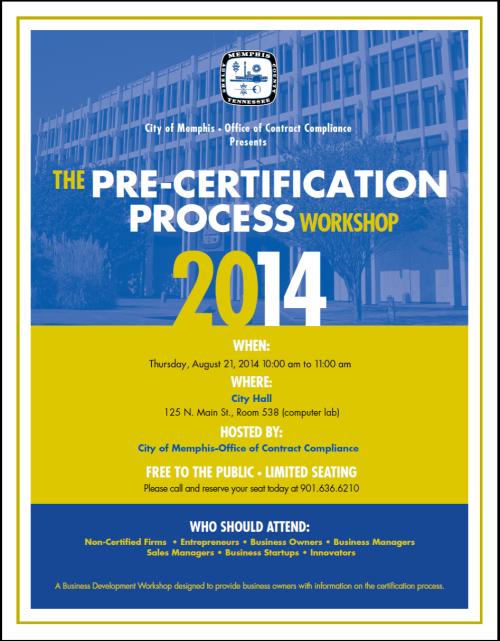 PreCertification Workshop
