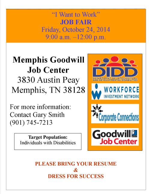 Job Fair - 10-24-14 - Individuals with Disabilities