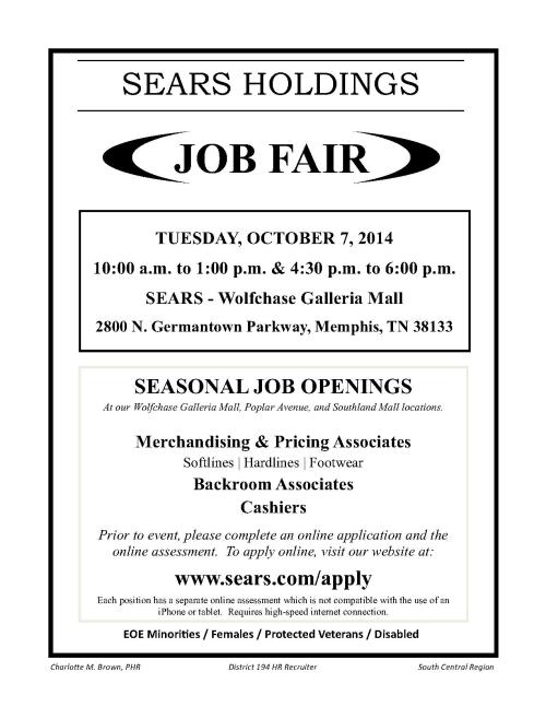 Sears_Job Fair_Wolfchase_10 07 14_1
