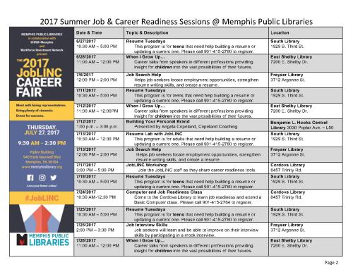 Summer 2017 Job and Career Sessions - MPL_2