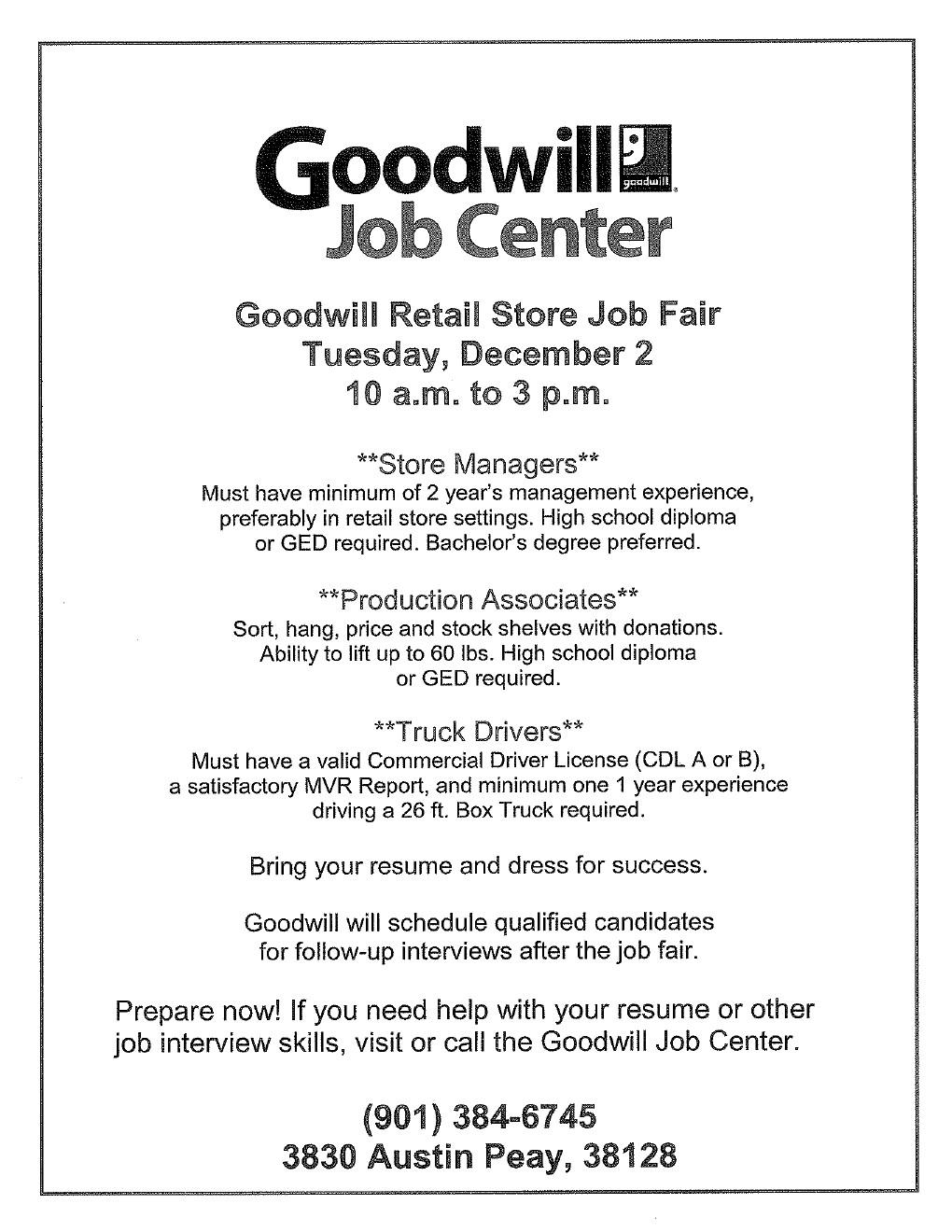 Job Fairs Job Career News From The Memphis Public Libraries