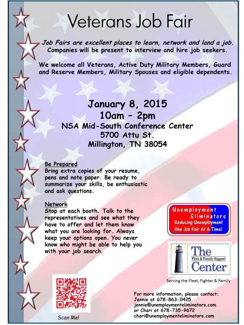 Veterans Job Fair 1-8-15