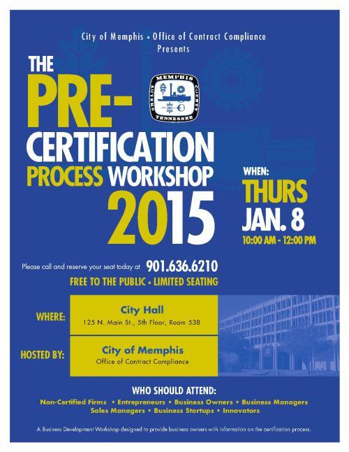 Pre-Certification Workshop_Jan2015_1
