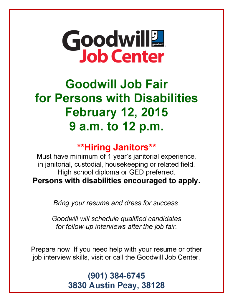 goodwill job fair for persons with disabilities  u2013 2