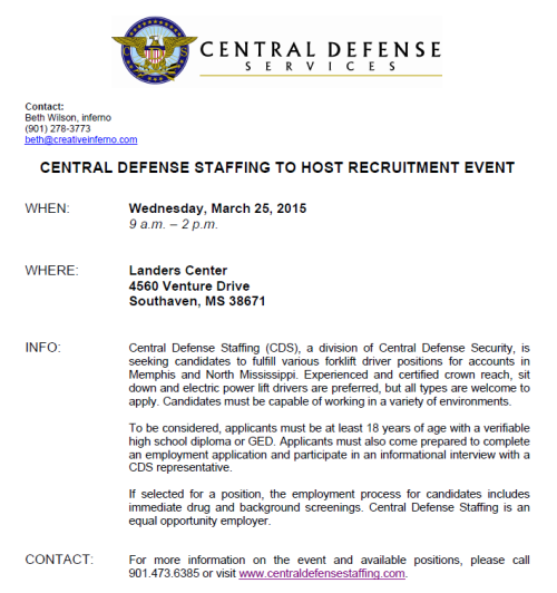 Central Defense Job Fair 3-25-15