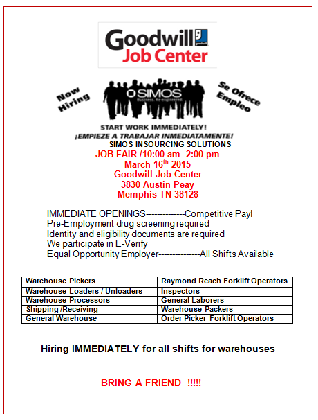 SIMOS Job Fair 3-16-15