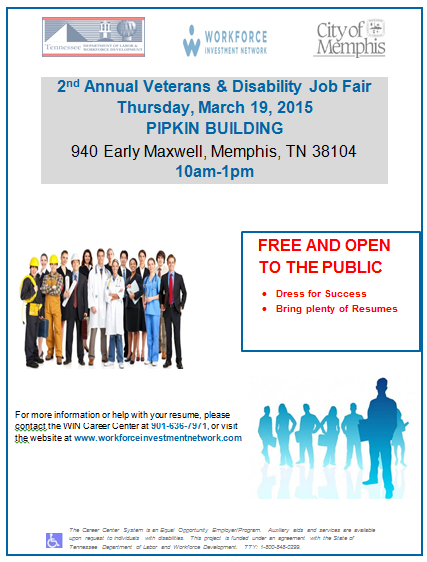 Veterans and Disability Job Fair 3-19-15