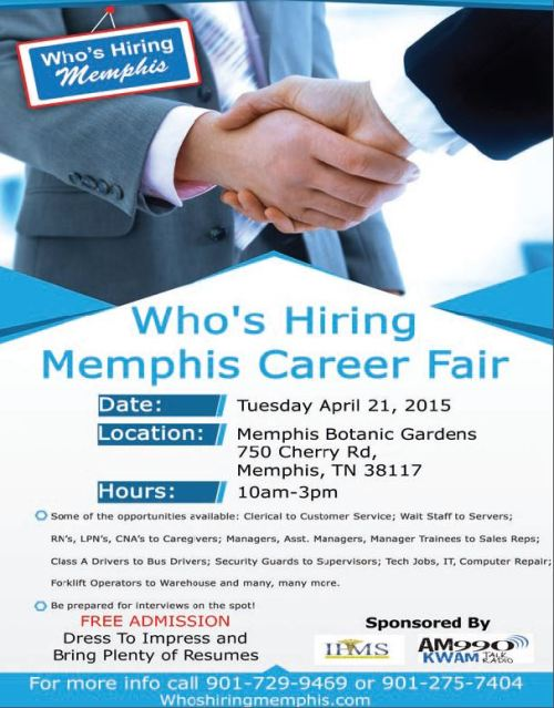 Who's Hiring Career Fair 4-21-15