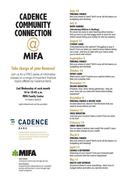 MIFA Financial Classes 2015