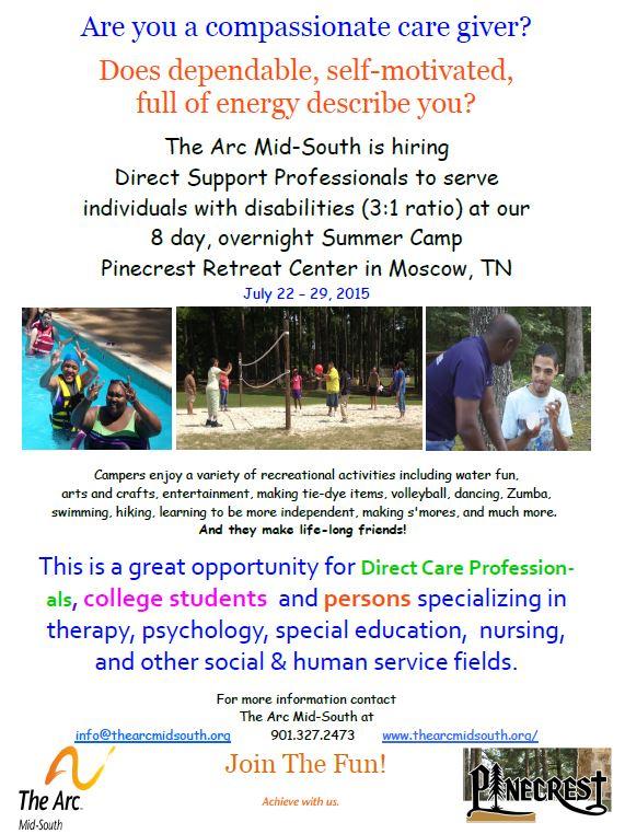 jobs summer internship memphis