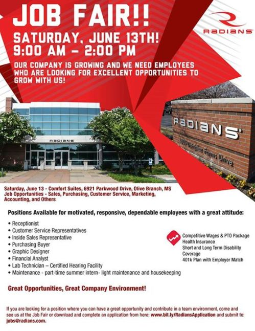 Radians Job Fair 6-13-15