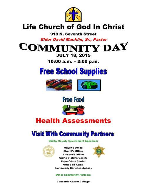 Life COGIC Church Community Day flyer 7-18-15 2014_1