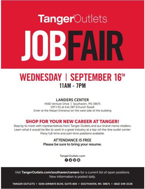 Tanger Outlets Job Fair