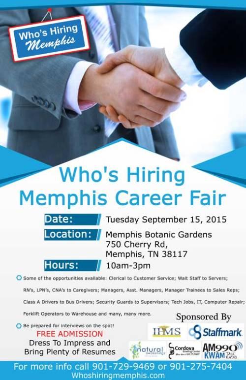 Who's Hiring Memphis September-2015 Flyer