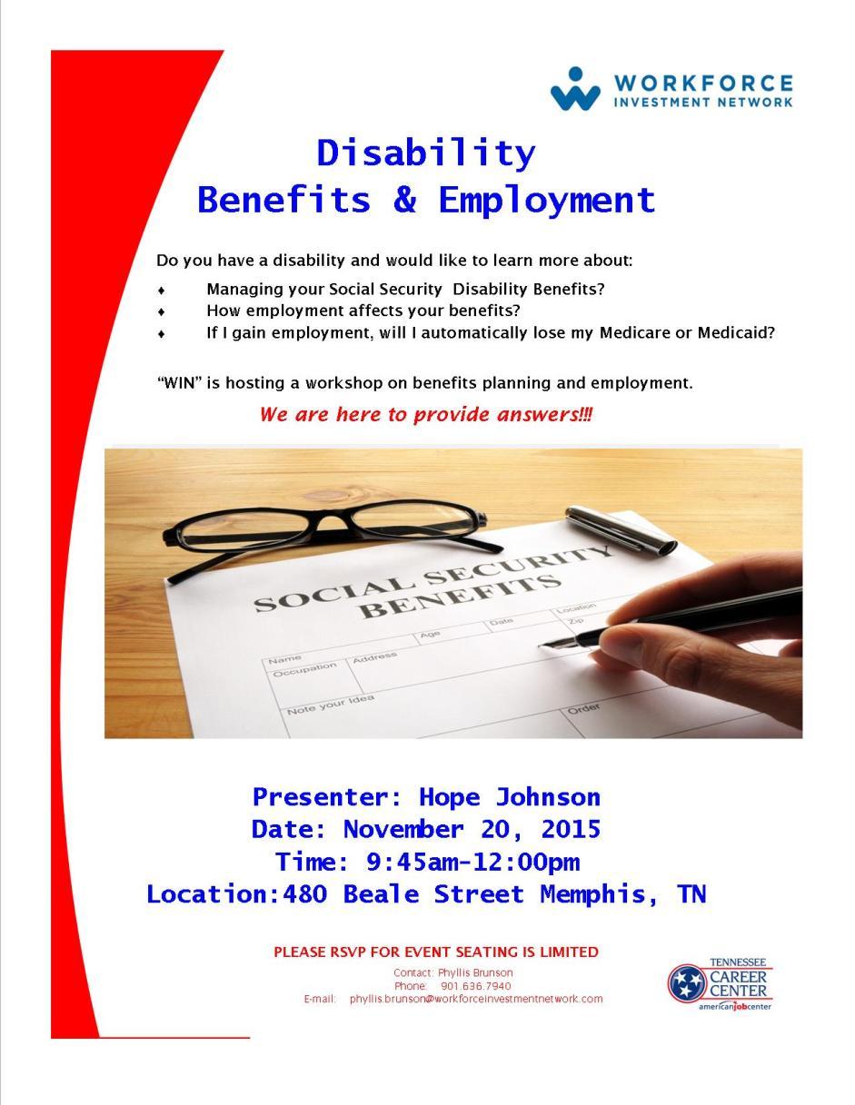 Disability Benefits Flyer