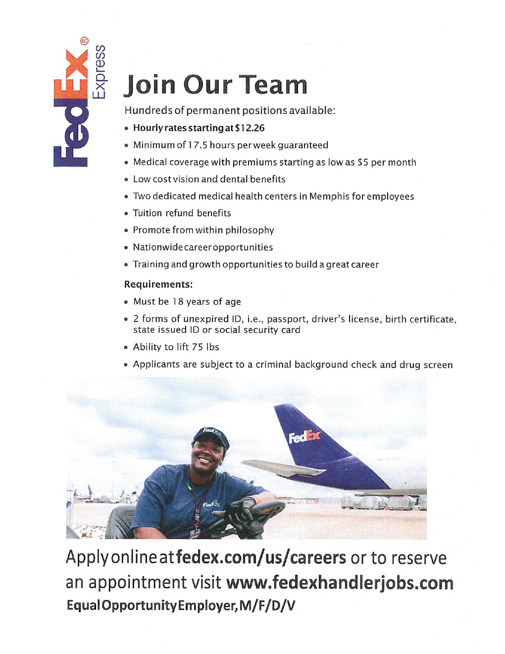how to get a job at fedex express