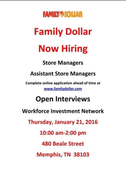 family dollar job fair