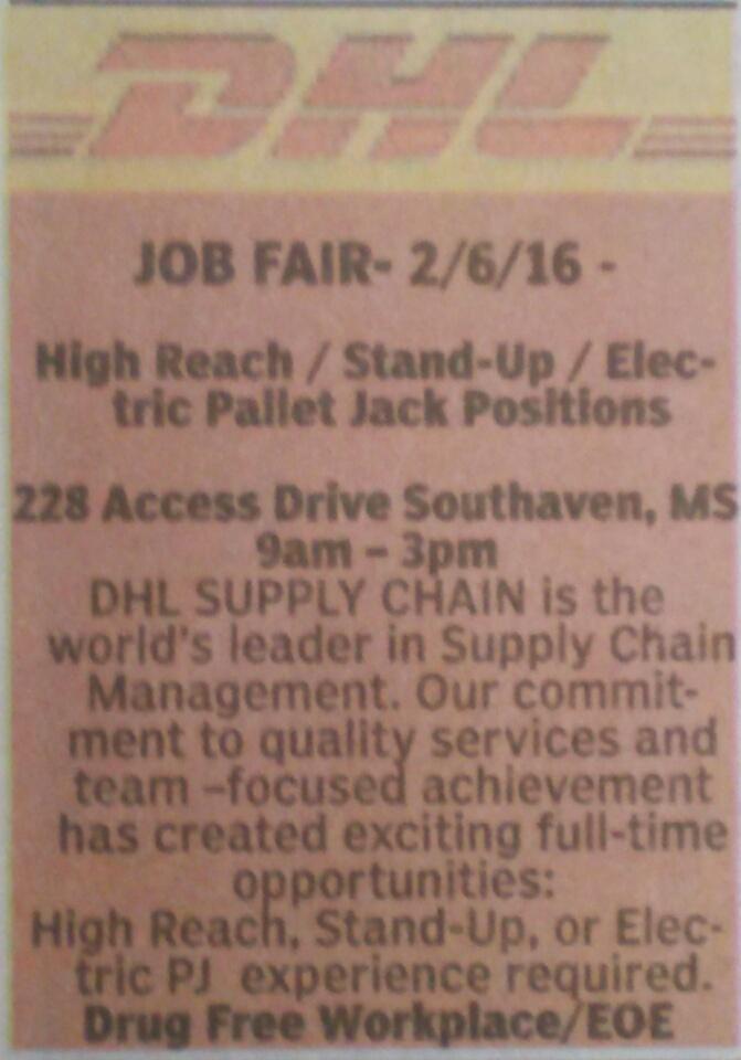 DHL job fair