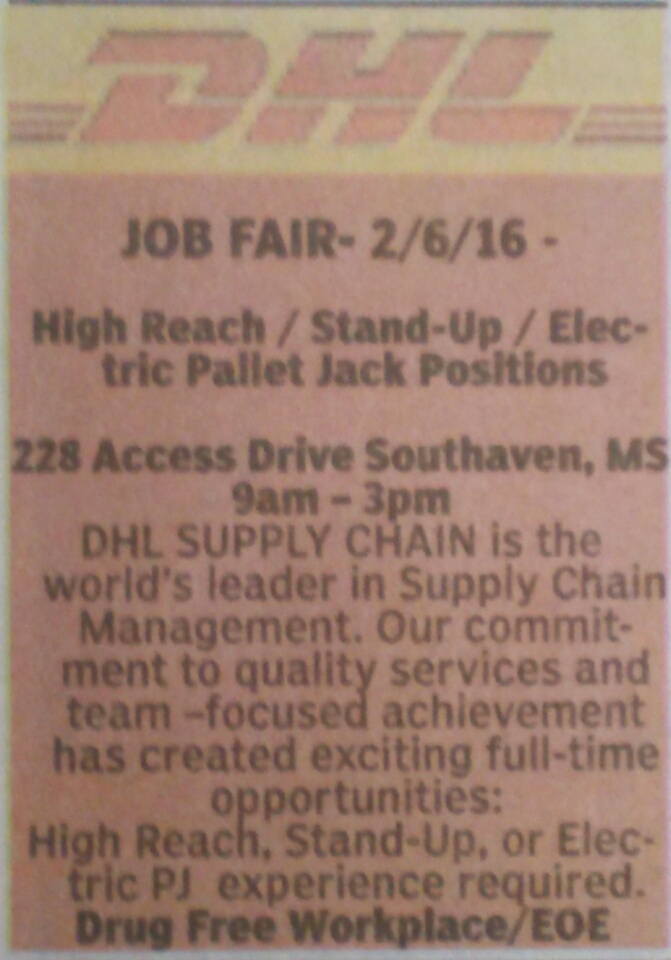 DHL job fair