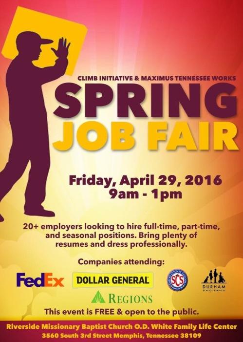 Spring Job Fair 2016-maximus