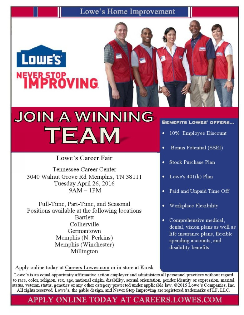 Lowes Employee Benefits >> Lowe S Job Career News From The Memphis Public Libraries