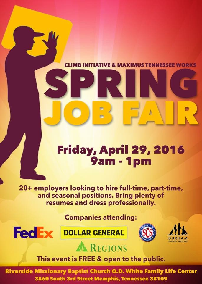 Climb Initiative &Maximus Spring Job Fair 2016