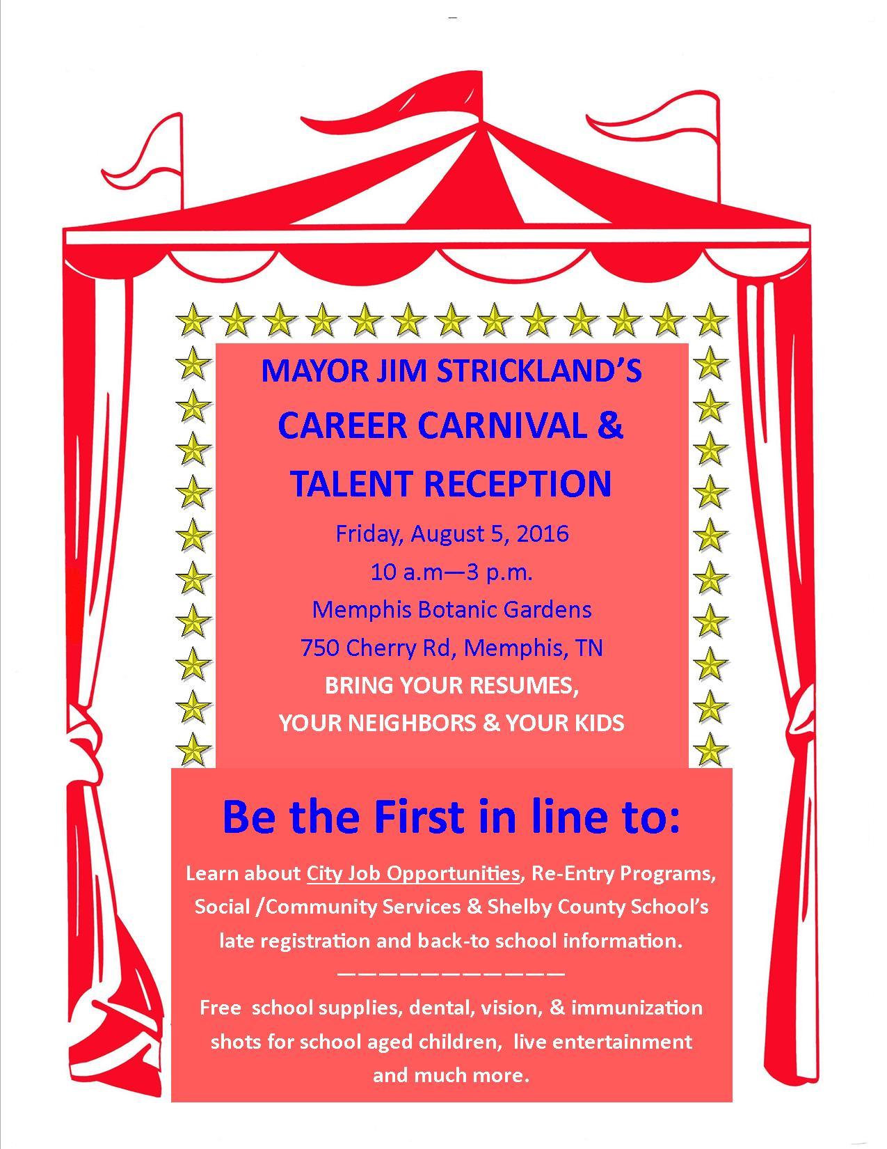 City of memphis Career Carnival Flyer 2