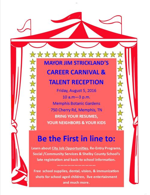 City of memphis Career Carnival Flyer 2