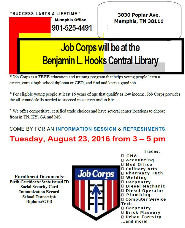 job corps central | Job & Career News from the Memphis Public Libraries