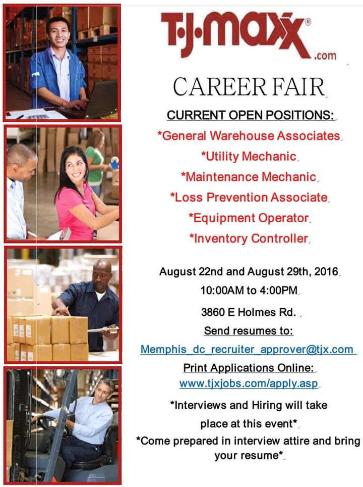 tj maxx career fair 8  22  u0026 8  29