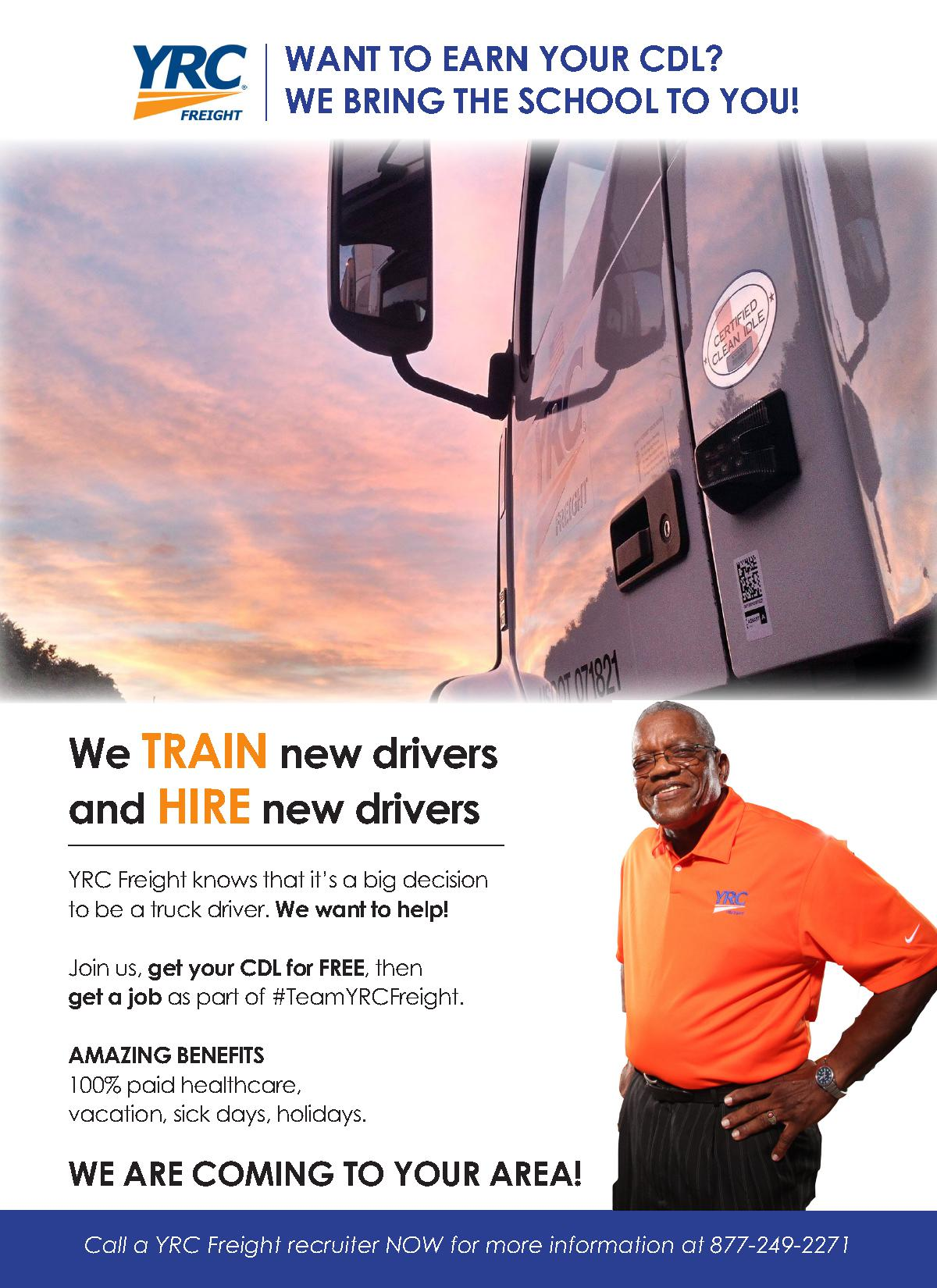 yrc freight cdl training class for conditional employment