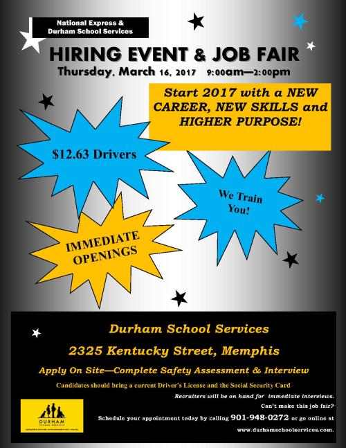Durham Kentucky job Fair - Hiring Event 3-16-17_1