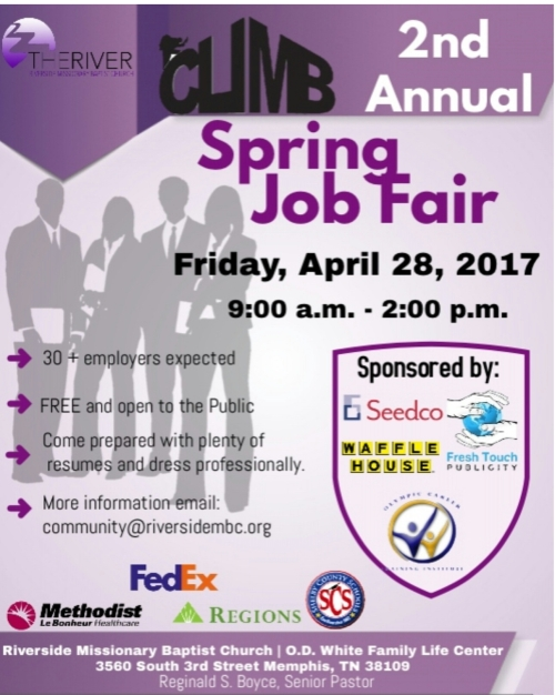 CLIMB Spring 2017 Job Fair Flyer