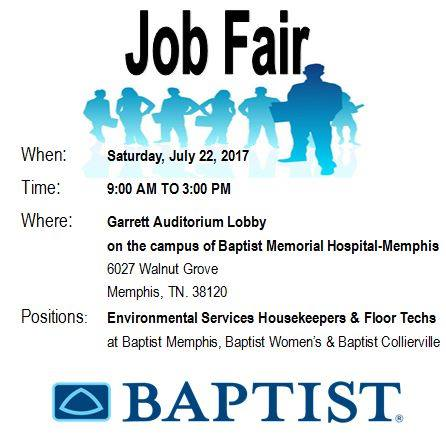 Baptist Job Fair 7-22